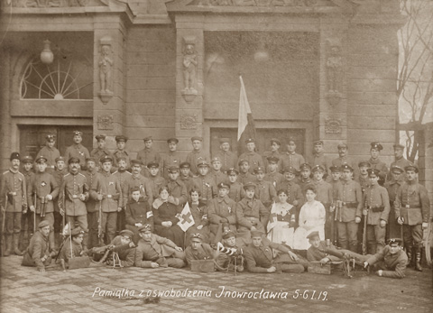 Photo of troops contributed to the victory in the battle of Inowrocław