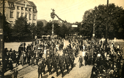 Military parade in Witkowo 1920